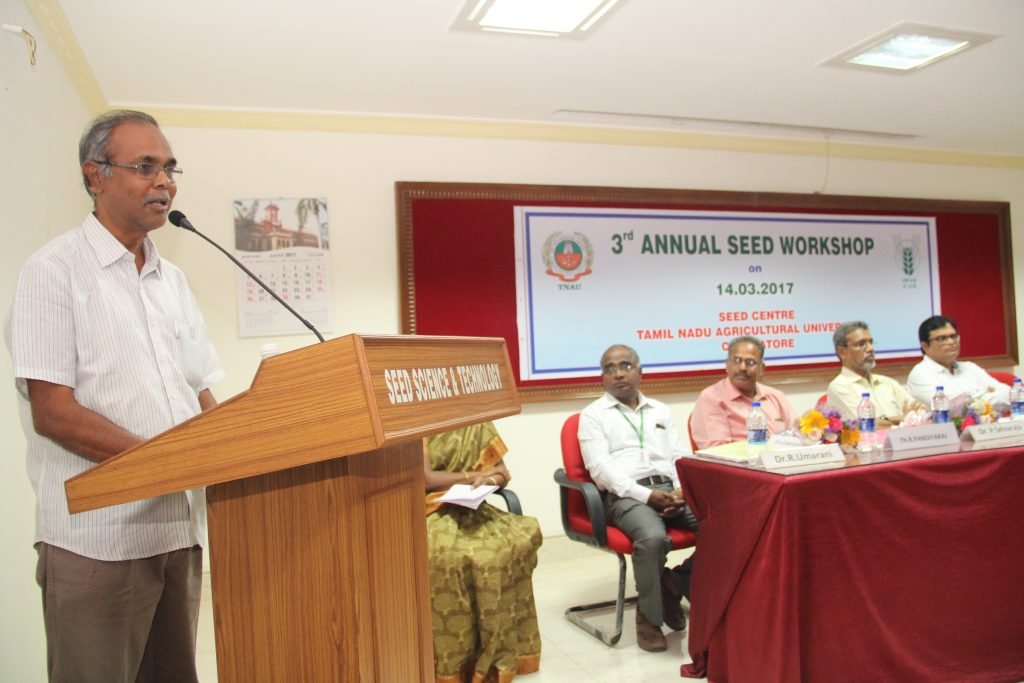 Dr. M. Maheswaran, Director of Research, TNAU, Coimbatore